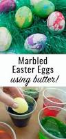 marbled easter eggs with butter u2014 clumsy crafter