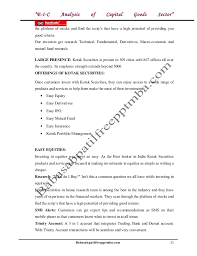 a project report on e i c analysis of capital goods sector at kotak m u2026