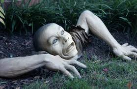 garden ornament the zombies are coming waycoolgadgets