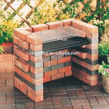 diy barbecue bbq grill set built in bricks with cooking grid buy