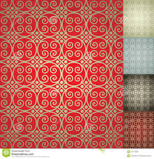 Red Damask Wallpaper Home Decor Chinese Seamless Damask Wallpaper Background Stock Vector Image