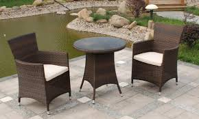 Patio Furniture Covers Uk - 2 seater bistro set in brown royalcraft wentworth rattan range