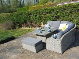 Outdoor Wicker Dining Set Nottingham Corner Sofa Dining Outdoor Rattan Set Natural Whitewash