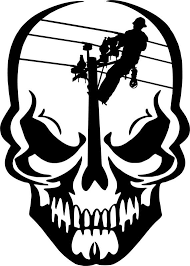 Lineman Barn Decals Lineman Skull Electrician Linemen Power Pole Car Truck Window