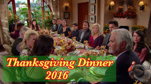 thanksgiving dinner toasts the bold and the beautiful thanksgiving dinner 2016 11 23 16