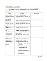 evaluating websites worksheet 6th 12th grade worksheet lesson