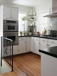White Kitchen Cabinets With Black Granite Countertops Ahhhh This Kitchen Kitchen Pinterest Black Countertops