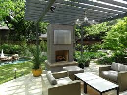 Pergola Backyard Ideas Ideas U0026 Tips Outdoor Isokern Fireplace Plus Sofa Set And Pergola