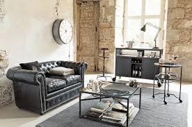 canap style chesterfield merveilleux tapis salon industriel id es de d coration chambre with