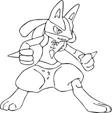 Coloriage du Pokemon Lucario à imprimer sur Coloriage DE com