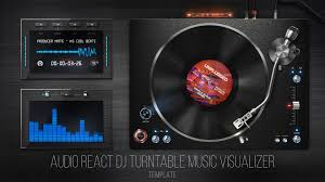 audio react dj turntable music visualizer after effects template