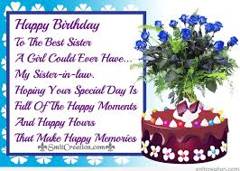 happy birthday messages sister in law jerzy decoration