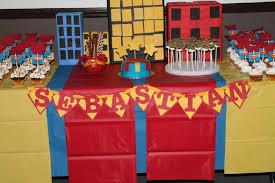 Superman Birthday Party Decoration Ideas Super Hero Batman Spiderman Superman Larry Boy Birthday Party