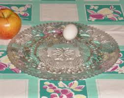 glass egg plate egg plate etsy