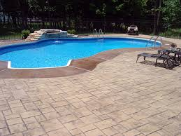stamped concrete pool patio pool land pinterest concrete