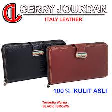 dompet kulit import wanita panjang cerry jourdan cj23 861 coklat