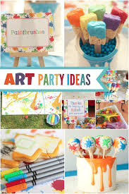 Boy U0027s Arts And Crafts Themed Birthday Ideas Splatter Paint And
