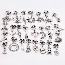 diy pandora charm bracelet images 25pcs lot mixed beads for pandora charm bracelet vintage silver jpg