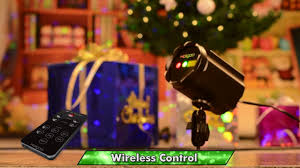 Projector Lights For Christmas by Holigoo Outdoor Indoor Dual Use Remote Control Laser Projector