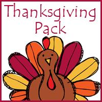 thanksgiving kindergarten and grade math pack