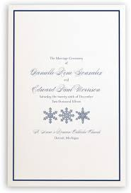 winter wedding programs custom winter snowflake drawings pattern wedding programs with