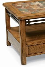 American Craftsman by Peters Revington American Craftsman Oak End Table With Slate Tile