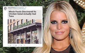Whole Foods Meme - whole foods had a chicken tuna mix up jessica simpson was fkn