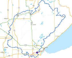 Map St Louis Lakesuperiorstreams St Louis River Maps