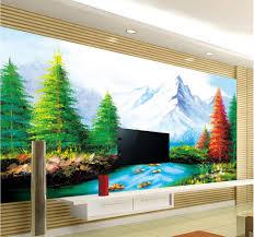 custom wallpaper papel de parede hd 3d landscape painting design