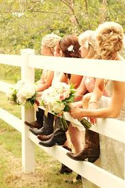 lace wedding dress with cowgirl boots