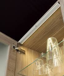 glass door kitchen cabinet lighting lighting for glass kitchen cabinets sensor operated picca by sensio