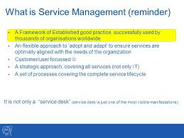 what is service desk service management status 101 th accu meeting wednesday september