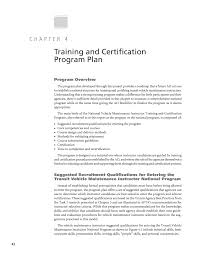 chapter 4 training and certification program plan a national