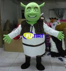 Shrek Halloween Costumes Adults Cartoon Mascot Shrek Costume Cartoon Mascot Shrek Costume