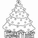 coloring page of christmas tree with presents coloring pages christmas tree with presents ohmygirl us