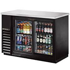 Glass Door Beverage Refrigerator For Home by Amazon Com True Black 2 Sliding Glass Door Back Bar Cooler For 48