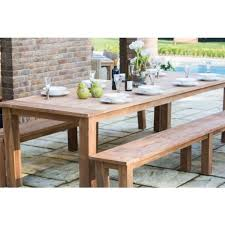 backless bench outdoor reclaimed teak backless outdoor dining bench slatted 200cm