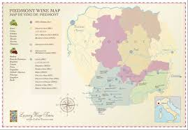 Italy Wine Regions Map by Piedmont Wine Regions Map Cellartours