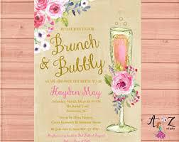 Inexpensive Bridal Shower Invitations Bridal Shower Brunch Etsy