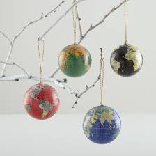 a globe tree theme green globe ornament in all
