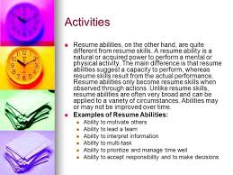 Activity Resume Career Management Objective 6 01 Components Of A Resume Ppt