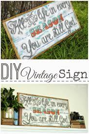 pitterandglink diy vintage quote sign