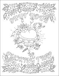 swear word coloring pages free printable coloring pages