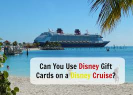 vacation gift cards can you use disney gift cards on a disney cruise