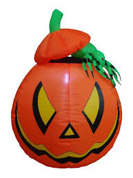 bzb goods lighted halloween inflatable pumpkin with spider indoor