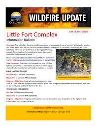Bc Wildfire Weather by District Of Clearwater U2013 Bc Wildfire Update Little Fort Complex