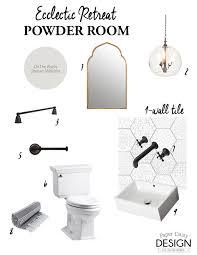 Powder Room D Patterned Hexagon Powder Room