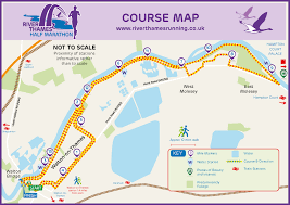 thames river running routes river thames running river thames half marathon course map