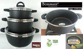 schumann cuisine batterie de cuisine en 13 pcs marmite grill wok schumann
