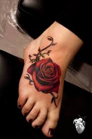 rose foot tattoo designs 1000 ideas about rose foot tattoos on